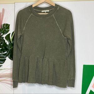 {Truly Madly Deeply} Peplum Sweatshirt